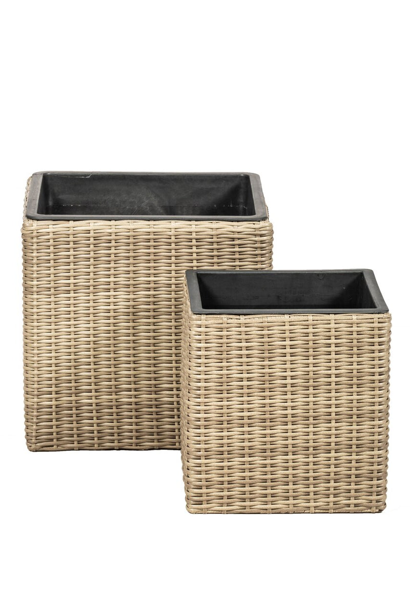 Set of 2 Sqaure Genoa Planters
