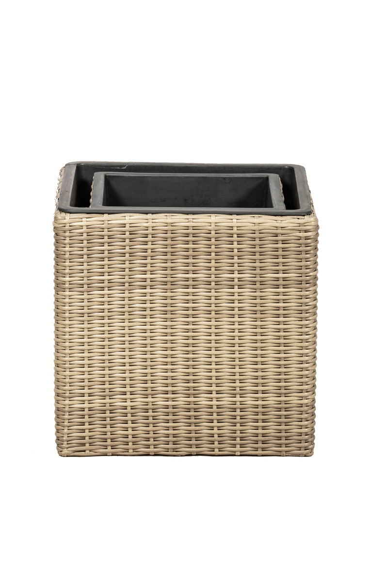 Set of 2 Square Genoa Planters