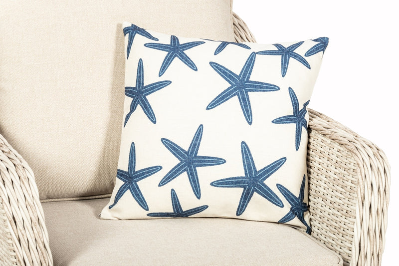 Blue Star Fish Scatter Cushion