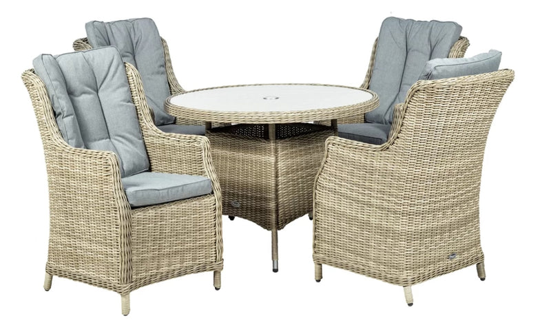 Wentworth Highback Comfort 4 Seater Set