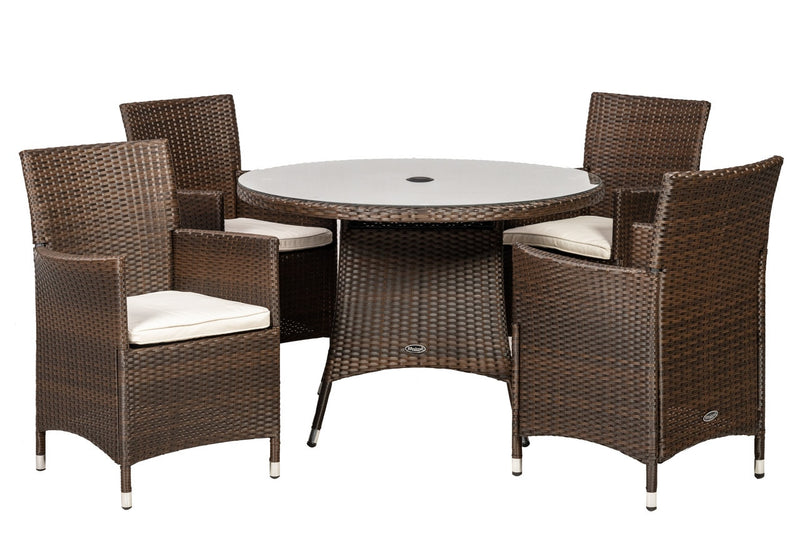 Cannes 4 Seater Round Dining Set