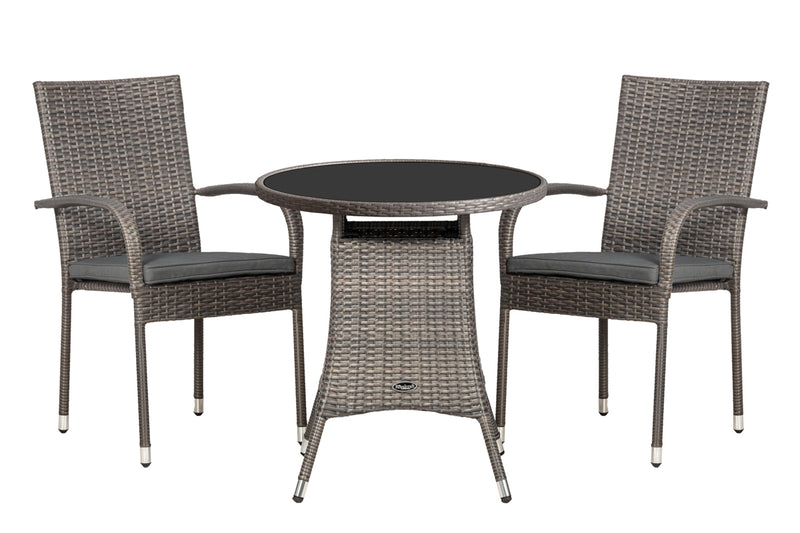 Malaga 2 Seater Stacking Bistro Set