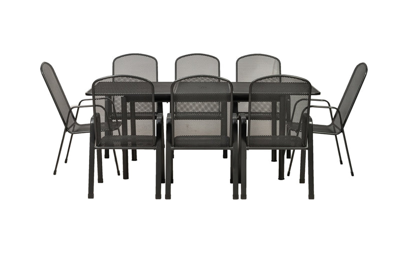 Palma 6 Seater Rectangular Extending Mesh Top Dining Set