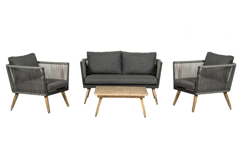 Milan 4 Seater 4pc Lounging Coffee Set