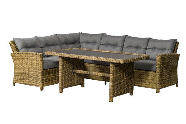 Modena 3pc Corner Dining Set