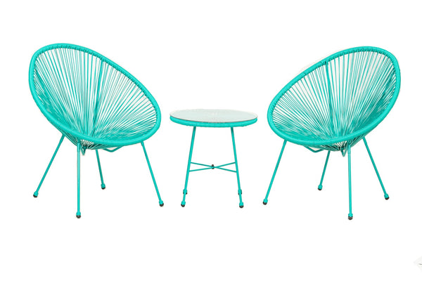 Monaco Egg Chair Set - Emerald Green