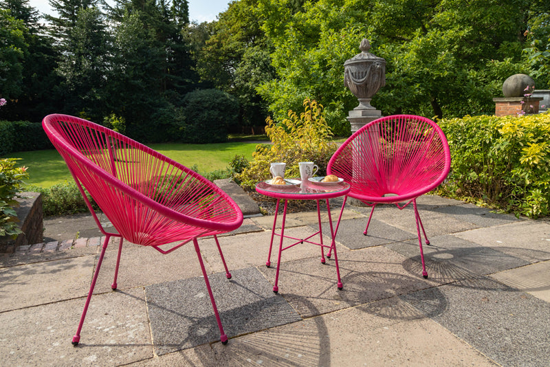 Monaco Egg Chair Set - Pink