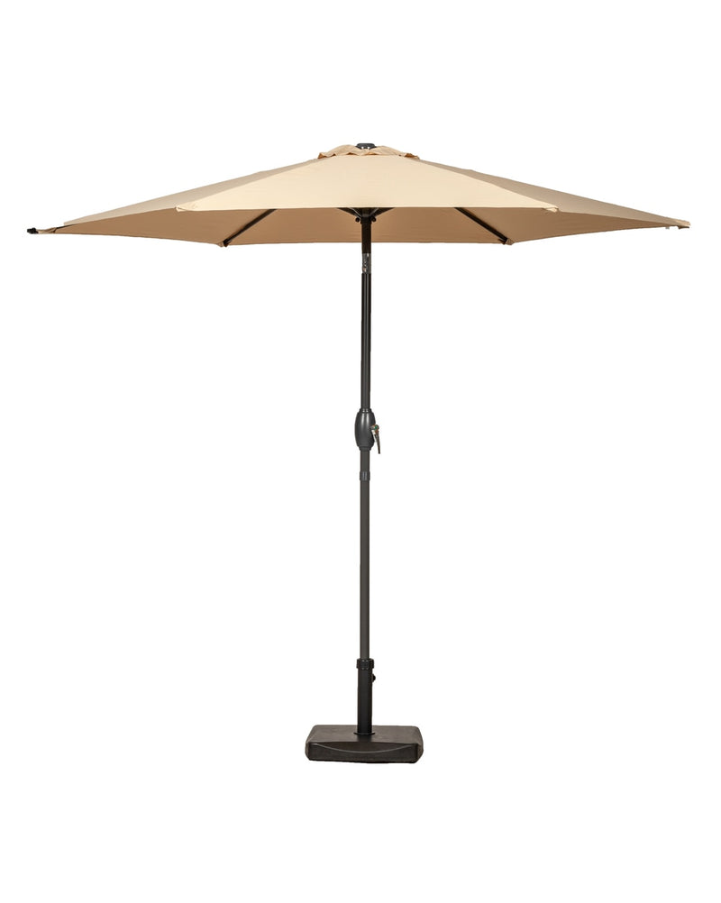 Sahara 2.5m Crank and Tilt Parasol - Grey Powder Coated Pole