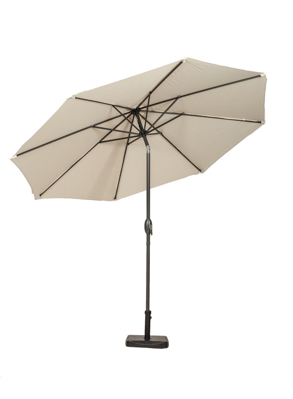 Ivory 3m Crank and Tilt Parasol - Grey Powder Coated Pole