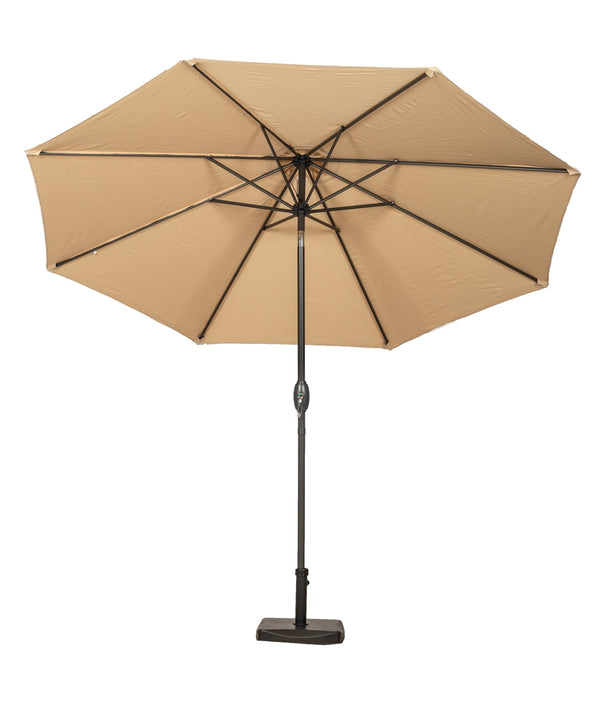 Sahara 3m Crank and Tilt Parasol - Grey Powder Coated Pole