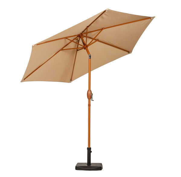 Sahara 2.5m Woodlook Crank and Tilt Parasol