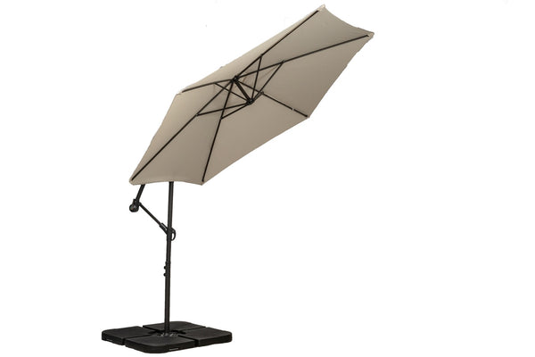 Ivory 3m Standard Cantilever Powder Coated Parasol