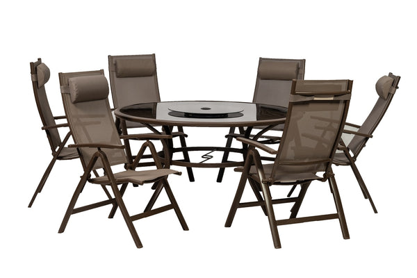 Florence 8pc Round Deluxe Recliner Set