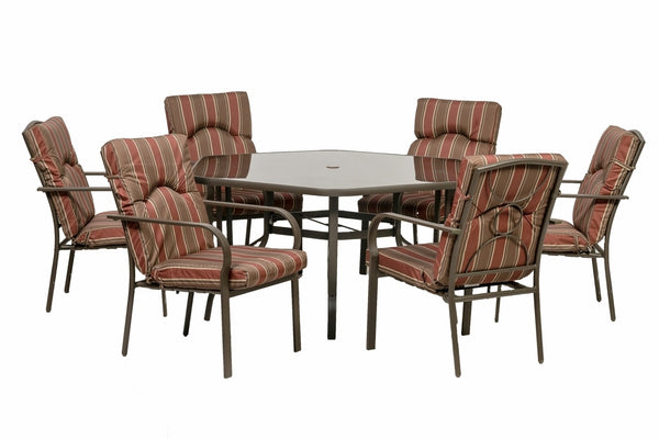 Amalfi Hexagonal 6 Seater Dining Set