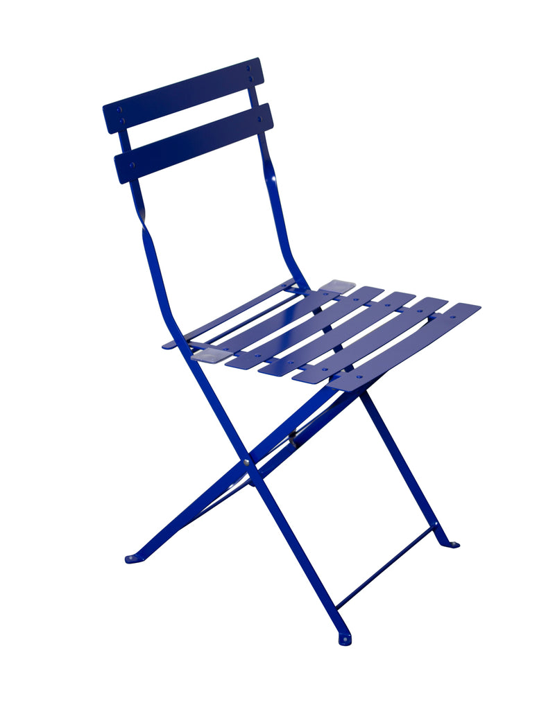 Padstow 2 Seater Folding Bistro Set - Navy Blue