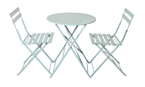 Padstow 2 Seater Folding Bistro Set - Sage Green