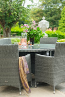 Paris 4 Seater Round Dining Set with Cushions