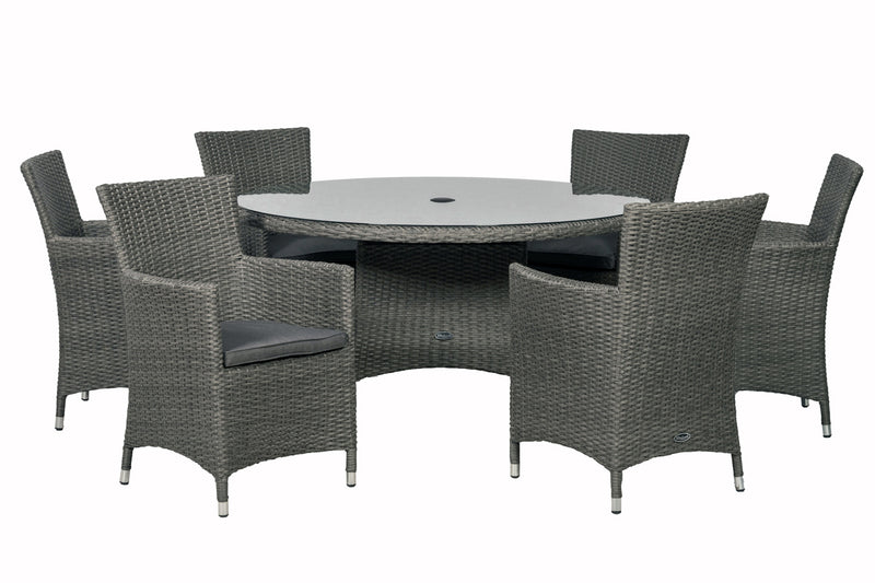 Paris 6 Seater Round Dining Set with Cushions