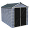 Palram 6x10 Skylight Grey Deco Apex Shed