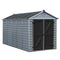 Palram 6x12 Skylight Grey Deco Apex Shed