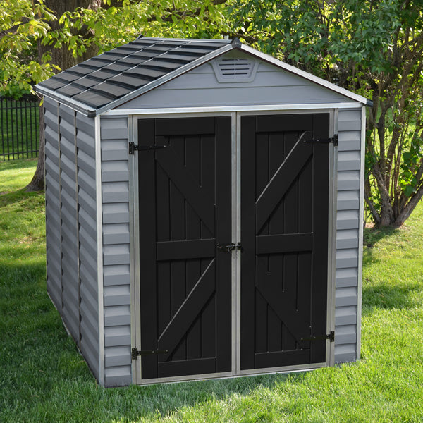 Palram 6x8 Skylight Grey Deco Apex Shed