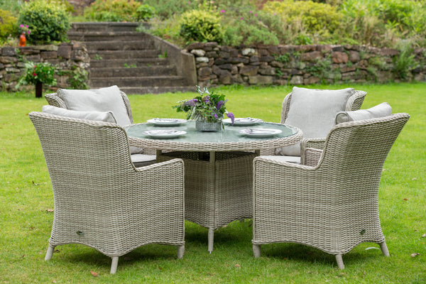Seychelles 4 Seat Round Comfort Dining Set