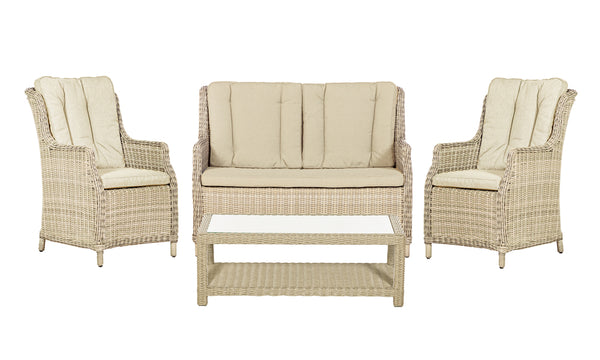 Seychelles Highback 4 Seater Coffee Set