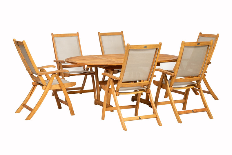 Turnbury 6 Seater Henley Extending Dining Set