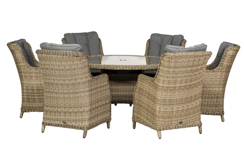 Wentworth 6 Seat Comfort Dining Set