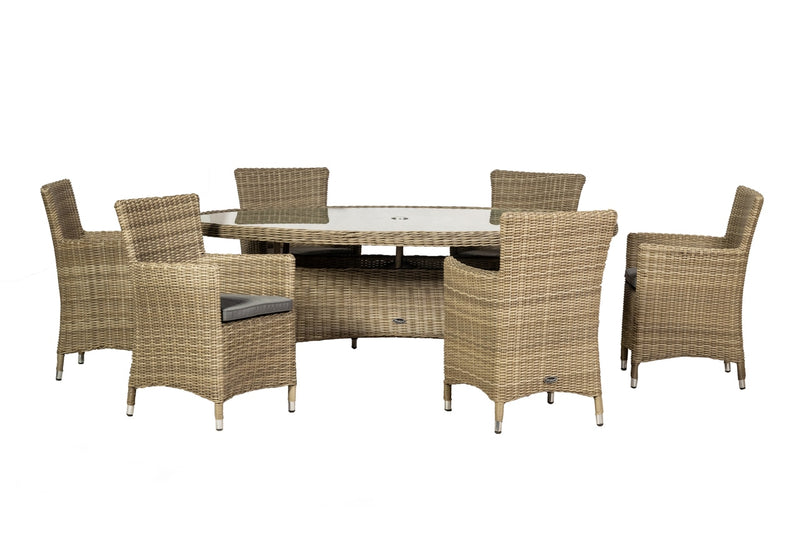 Wentworth Oval Carver 6 Seater Set