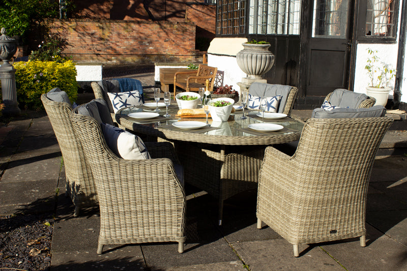 Wentworth 6 Seater Oval Highback Comfort Dining Set