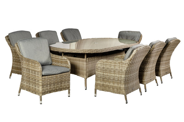 Wentworth Oval Imperial 8 Seater Set