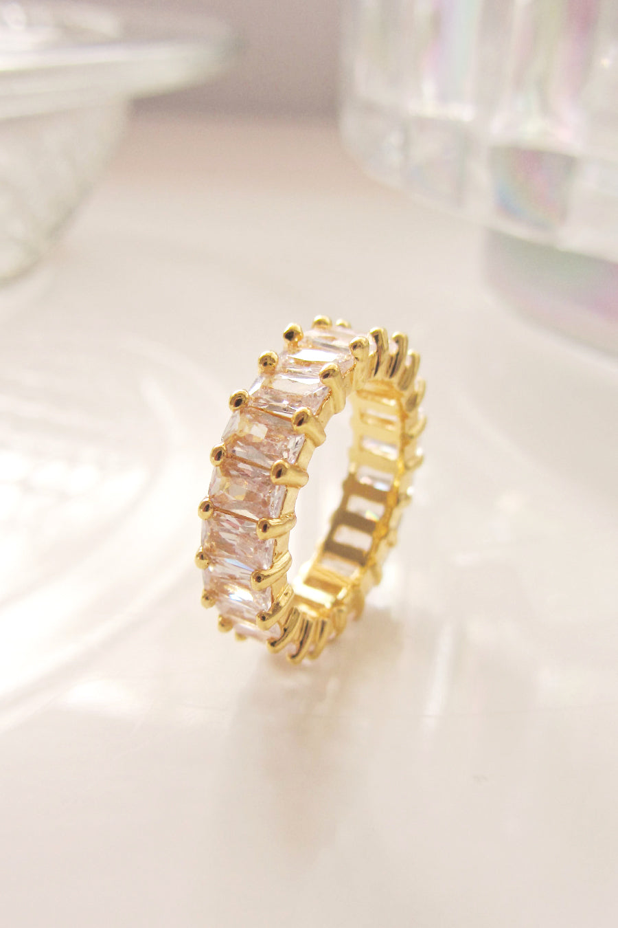 Gold plated Baguette ring