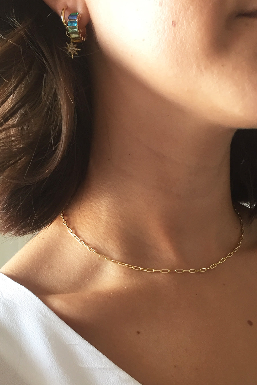 Gold plated link choker