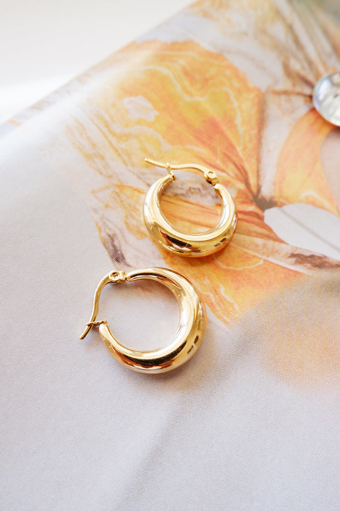 Gold creole hoops
