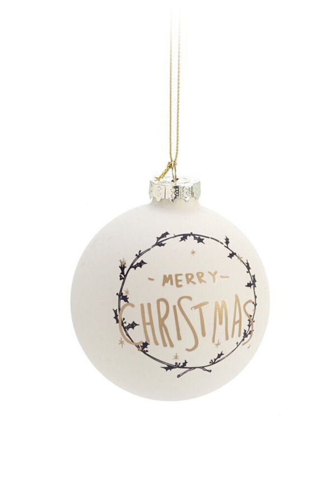 Merry Christmas Ball Ornament