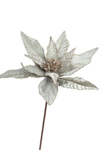 Pale Green Poinsettia Pick