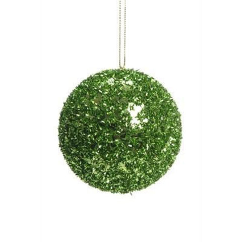 Lime Green Foil Ball Ornament