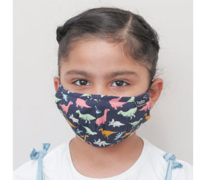 Papillon Cotton Kids Mask - Dinosaurs
