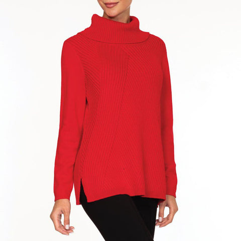 Alison Sheri Red Knit Sweater
