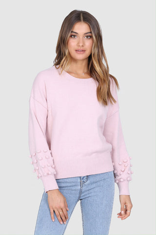 "Madison the Label ""Sorrento"" Pom-Pom Sweater"