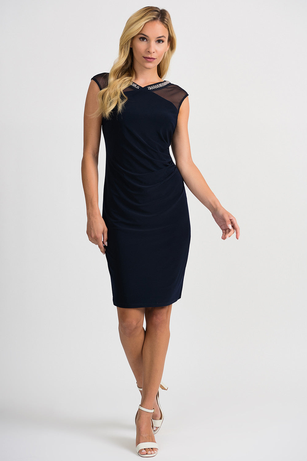 Joseph Ribkoff 201004 Navy Cocktail Dress
