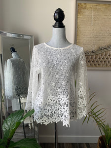 Papillon Floral Crochet Top
