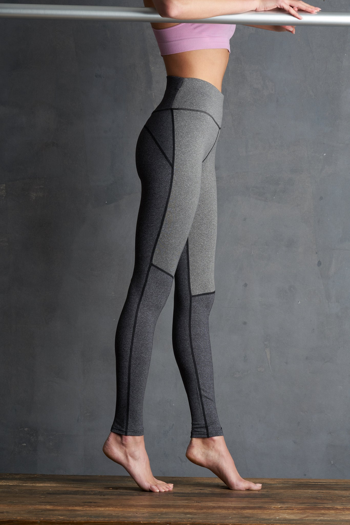 Lemon Two-Tone Charcoal Leggings