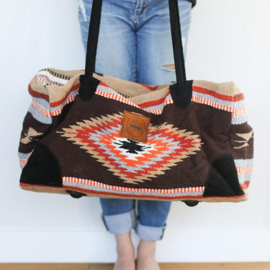 Lace Brick Design Orange+Brown Adventure Bag