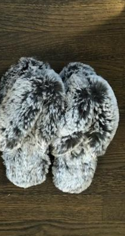 Lemon Fur Flip-Flop Slippers
