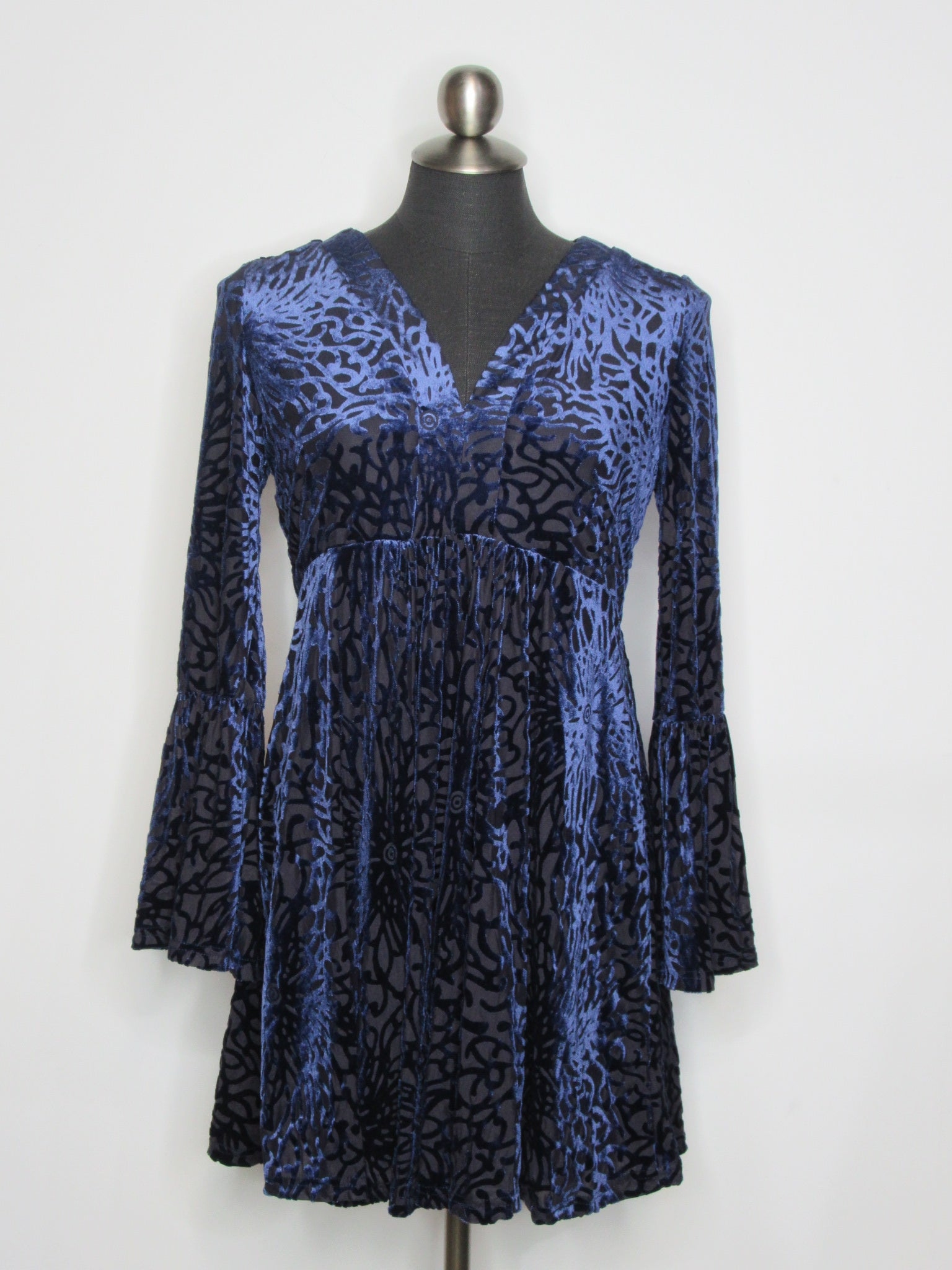 Papillon Velvet Burnout Dress