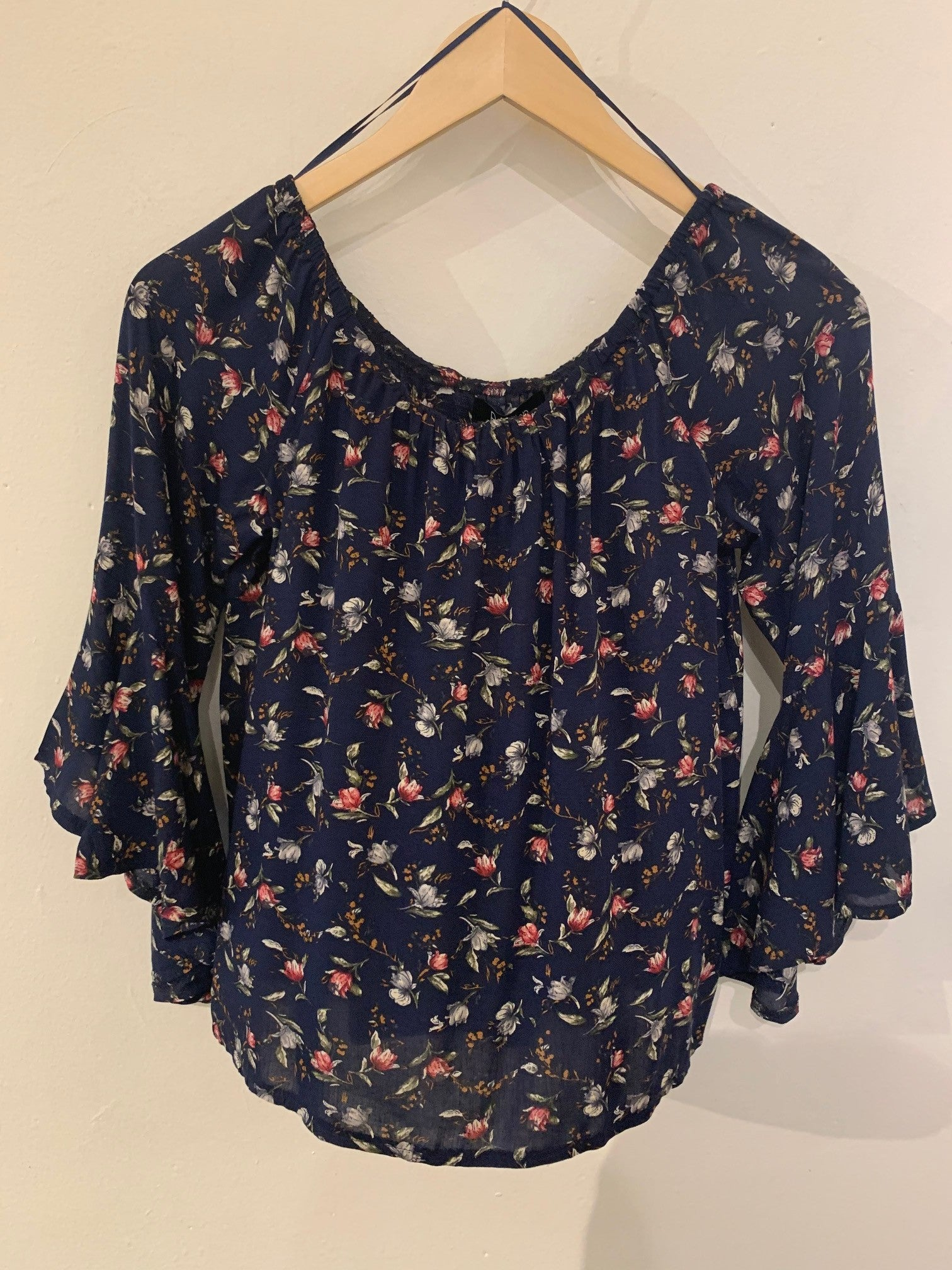Papillon Floral Bell Sleeve Top