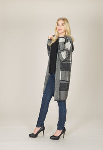 Papillon Hooded Checked Cardigan