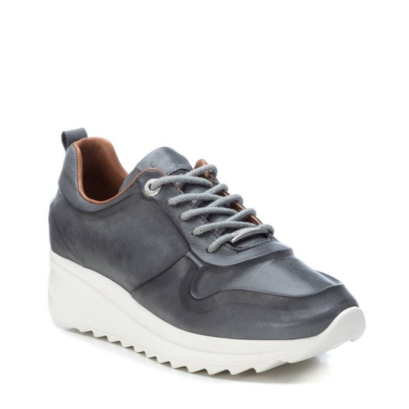 Carmela Grey Leather Sneaker